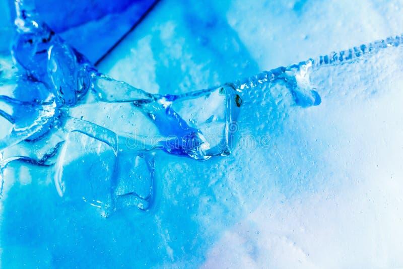 Van de achtergrond ijstextuur patrooninkt, water stock foto's