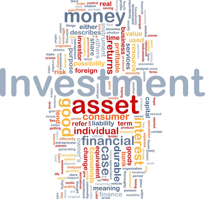 Van de achtergrond investering concept royalty-vrije illustratie