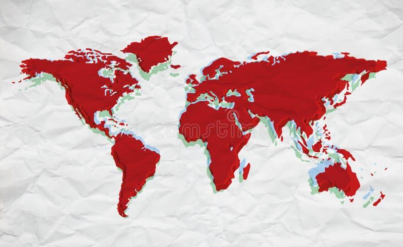 Van de achtergrond kaart kleuren vector illustratie