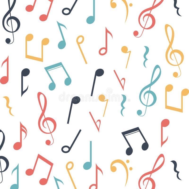 Van de achtergrond muzieknota ontwerp vector illustratie