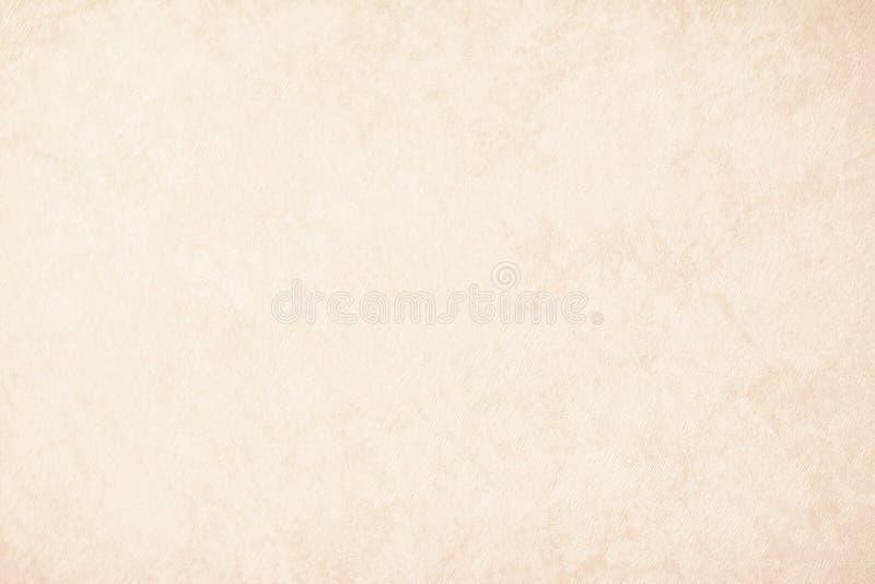 Van de achtergrond roomtextuur document in beige uitstekende kleur, perkamentdocument, abstracte pastelkleur gouden gradiënt met  stock afbeelding