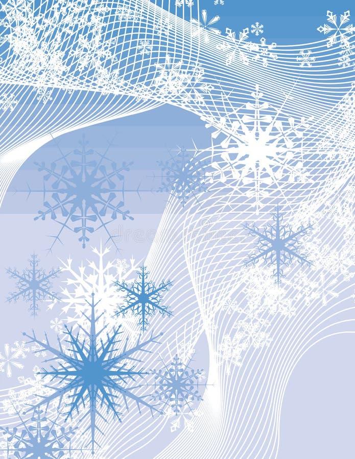 Van de achtergrond sneeuwvlok reeks vector illustratie