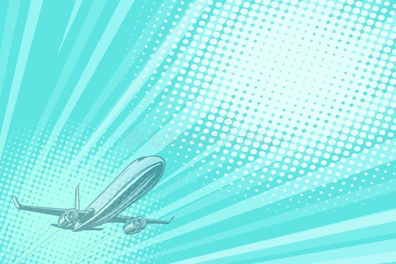Van de achtergrond startluchtvaart vluchtreis vector illustratie