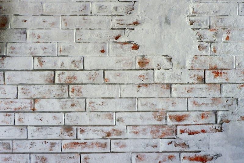 Van de Achtergrond TWhitebakstenen muur textuur royalty-vrije stock foto