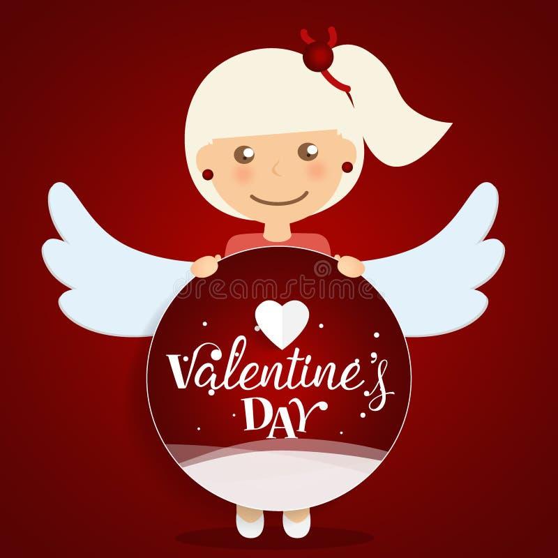 Van de achtergrond valentijnskaartendag Ontwerp Vector illustratie stock illustratie