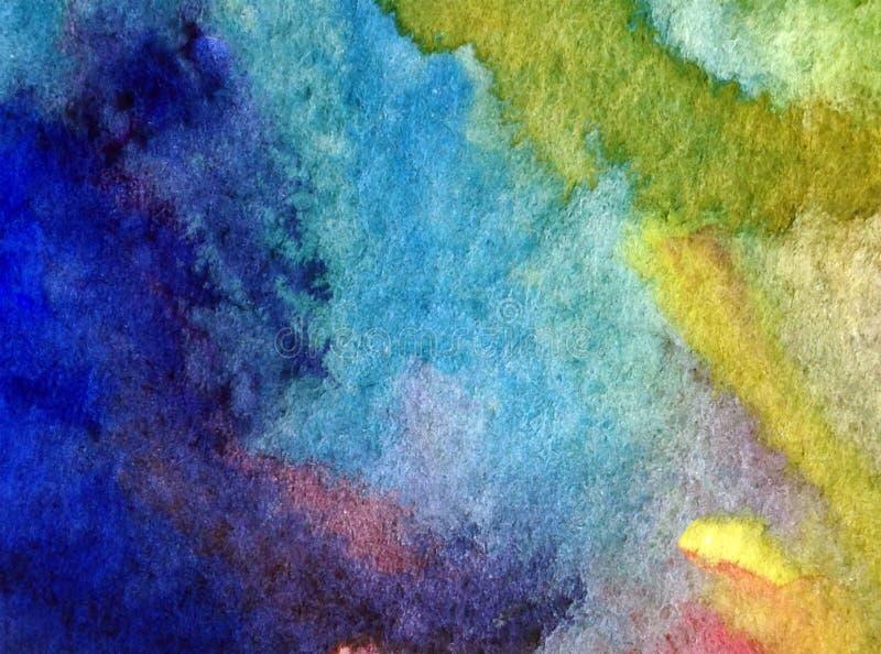 Van de achtergrond waterverfkunst abstracte overzeese geweven natte was vage kleurstof royalty-vrije illustratie