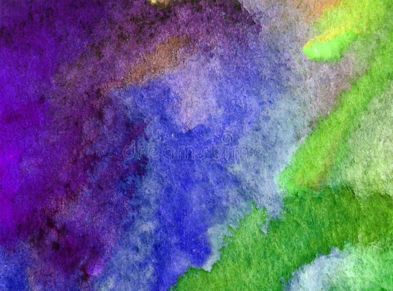 Van de achtergrond waterverfkunst abstracte overzeese onderwaterkoraal geweven natte was vage kleurstof stock illustratie