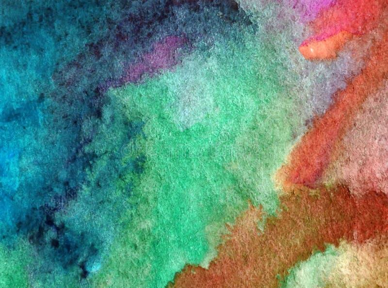 Van de achtergrond waterverfkunst abstracte overzeese onderwaterkoraal geweven natte was vage kleurstof royalty-vrije illustratie