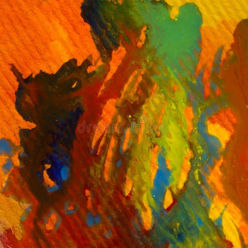 Van de achtergrond waterverfkunst abstracte trillende clhaos natte was vage plons vector illustratie