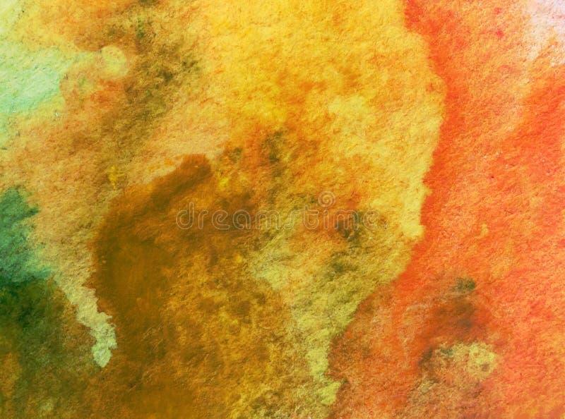 Van de achtergrond waterverfkunst abstracte warme zand geweven natte was vage kleurstof stock illustratie