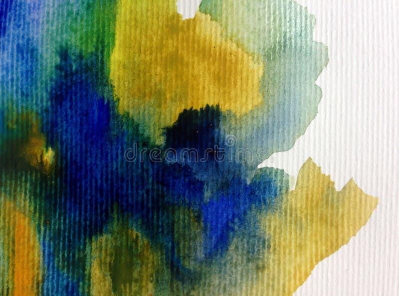 Van de achtergrond waterverfkunst abstracte zeewater geweven natte was vage kleurstof stock illustratie