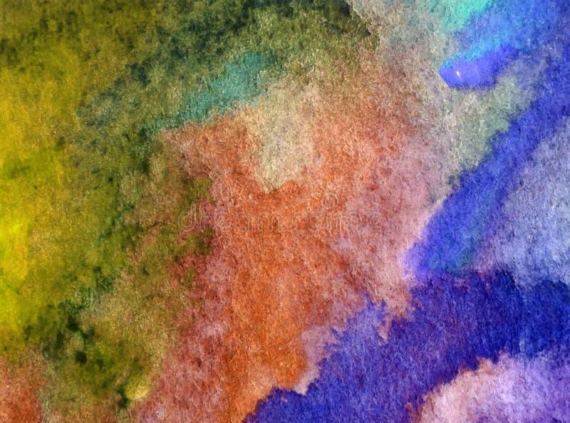 Van de achtergrond waterverfkunst abstractsea geweven natte was vage kleurstof stock illustratie