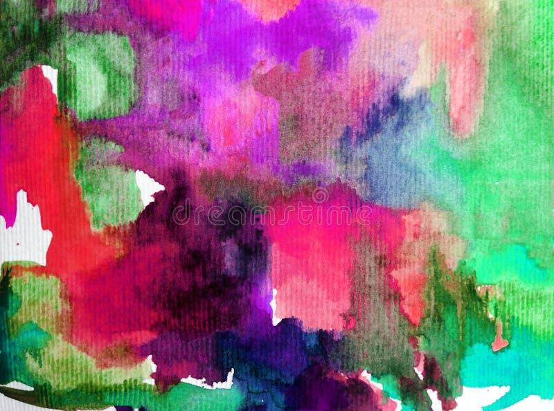 Van de achtergrond waterverfkunst geweven natte was vertroebelde de abstracte van het overzeese onderwaterwereldkoraalrif kleurst royalty-vrije illustratie