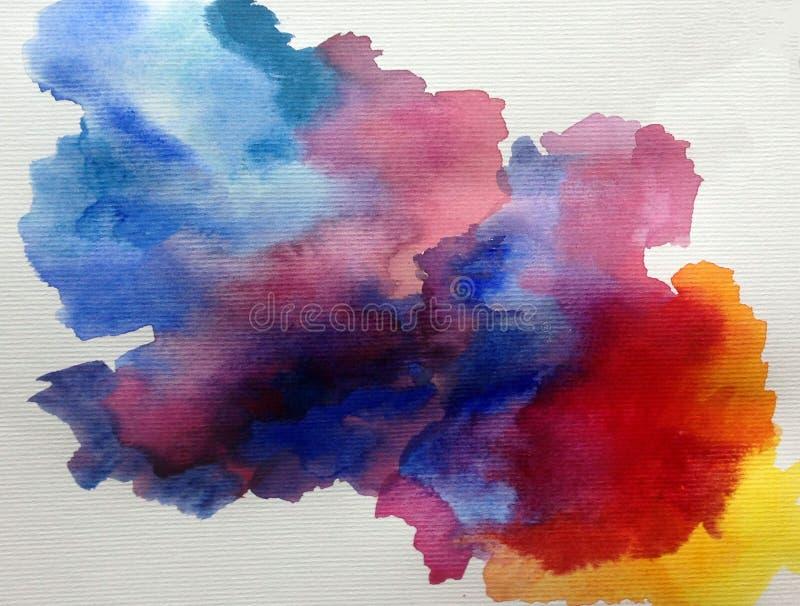 Van de van de achtergrond waterverfkunst de hemelonweer abstract nat was vaag de lenteplons vector illustratie