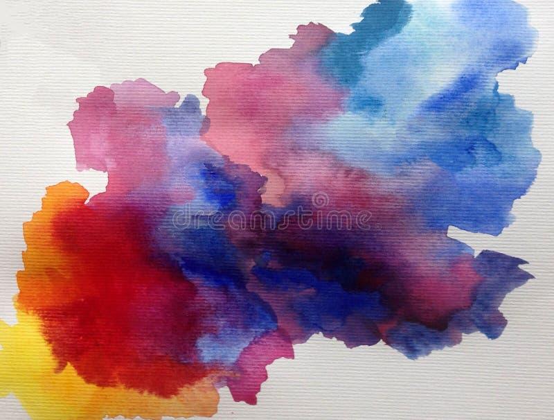 Van de van de achtergrond waterverfkunst de hemelwolk abstracte trillende natte was kleurrijke geweven ochtend vector illustratie