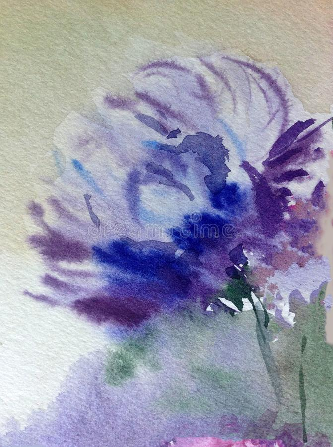 Van de van de achtergrond waterverfkunst van het de tuinhuwelijk vertroebelde de abstracte patroon bloemen magische bloem geweven vector illustratie