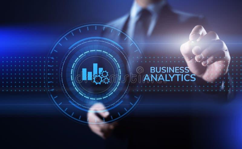 Van de analysebi van de bedrijfsanalyticsintelligentie concept van de de gegevenstechnologie het grote stock fotografie