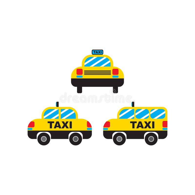 Van de de Autocabine van het taxivervoer de Vector en het Pictogram voor App en Website stock illustratie