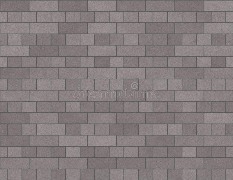 Van de Bakstenen muur Naadloze Kleine Bakstenen Als achtergrond in Grijs royalty-vrije illustratie