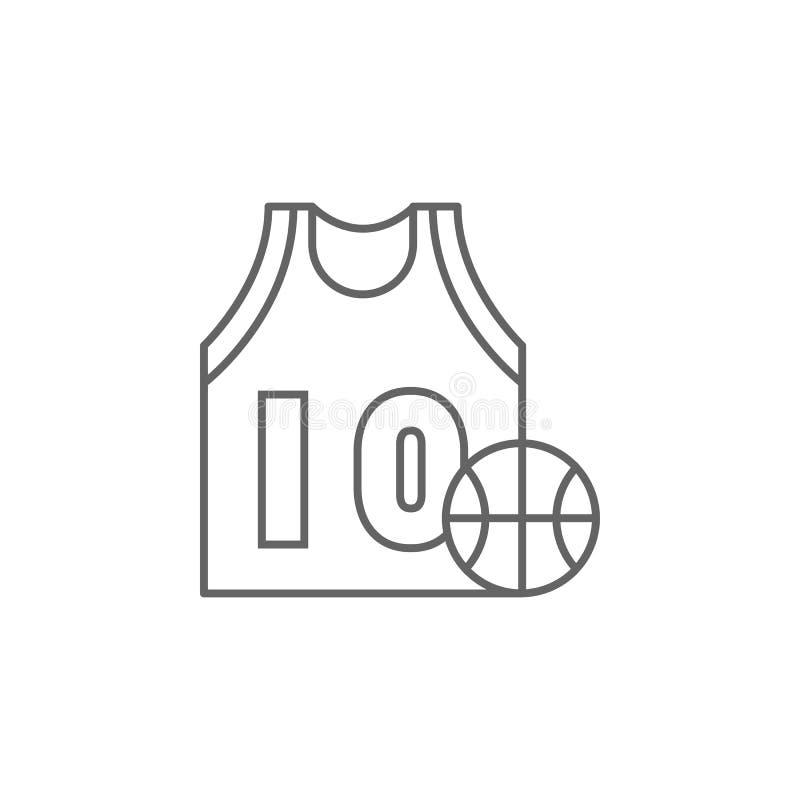 van de de balsport van basketbaljersey het overzichtspictogram Elementen van de illustratiepictogram van de onafhankelijkheidsdag stock illustratie