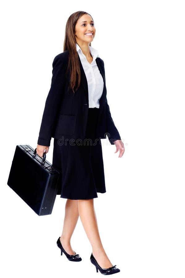 Van de bedrijfs aktentas vrouw royalty-vrije stock foto's