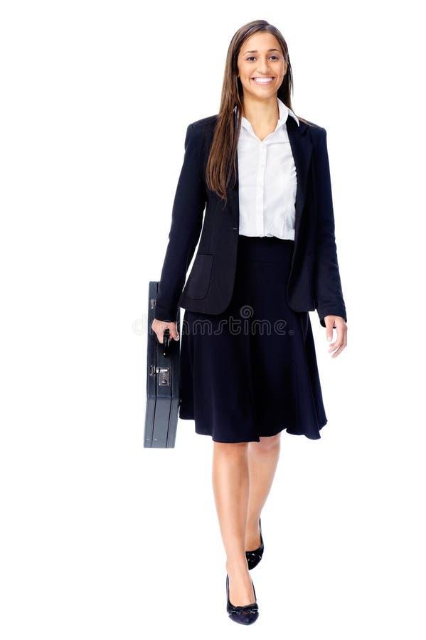 Van de bedrijfs aktentas vrouw stock foto
