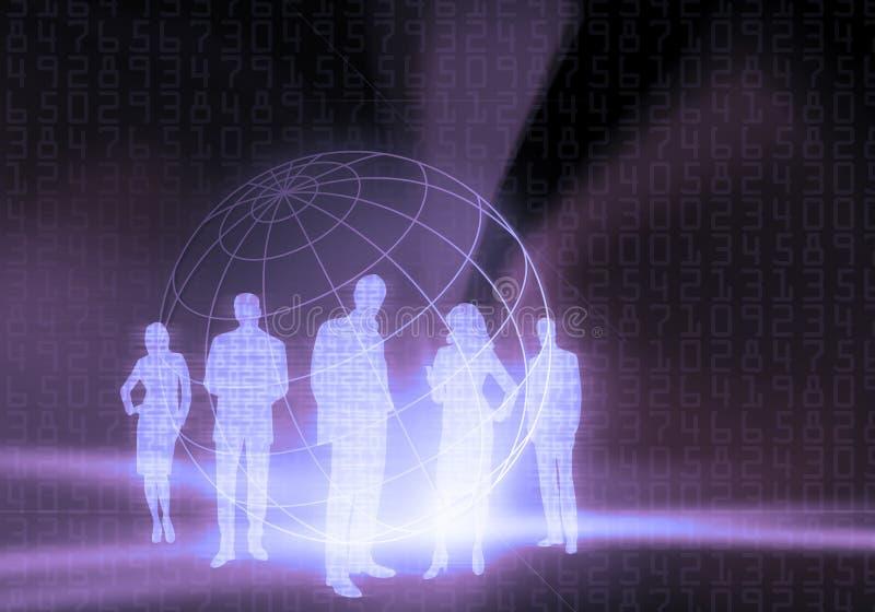 Van de bedrijfs binaire Code Mensen royalty-vrije illustratie