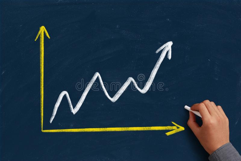 Van de de bedrijfs groeigrafiek Concept royalty-vrije stock afbeelding