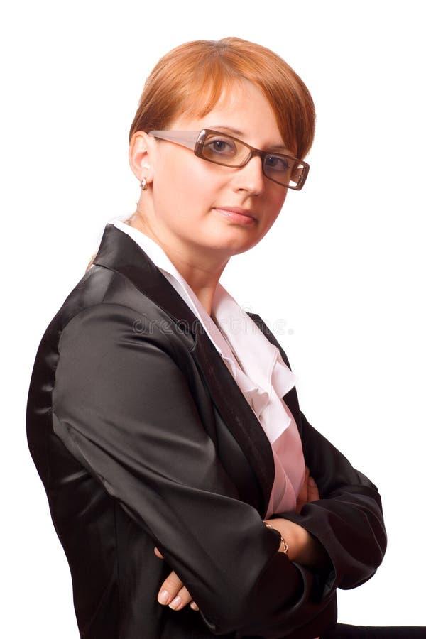 Van de bedrijfs roodharige vrouw stock fotografie