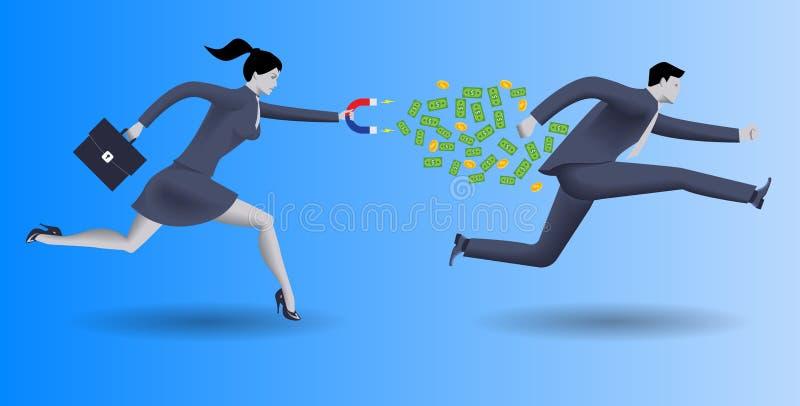 Van de bedrijfs schuldcollector concept stock illustratie