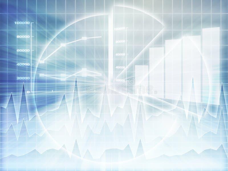 Van de bedrijfs spreadsheet grafieken vector illustratie