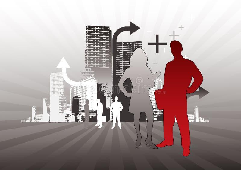 Van de bedrijfs stad Mensen vector illustratie