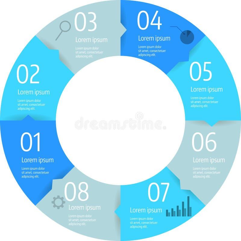 Van de bedrijfs stapcirkel infographic diagram vector illustratie