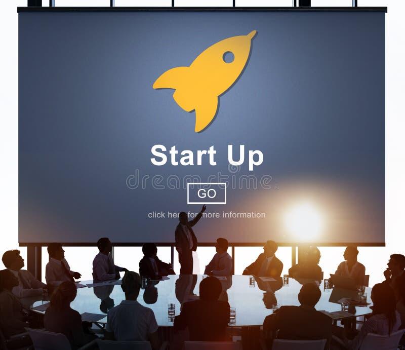 Van de bedrijfs startlanceringshomepage Nieuw Concept stock afbeeldingen