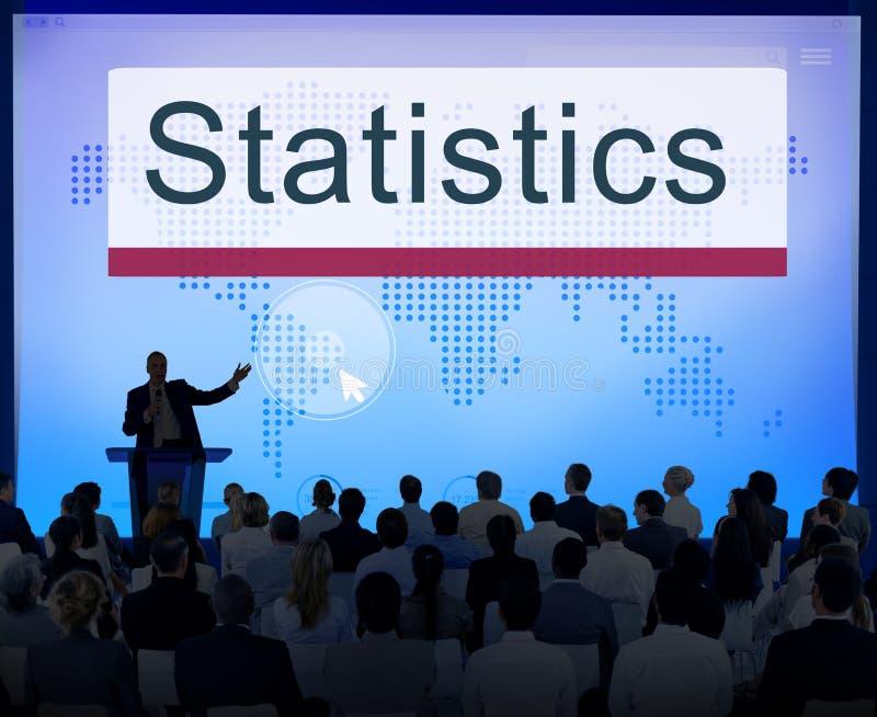 Van de bedrijfs statistiekenanalyse Informatief rapportconcept royalty-vrije stock foto