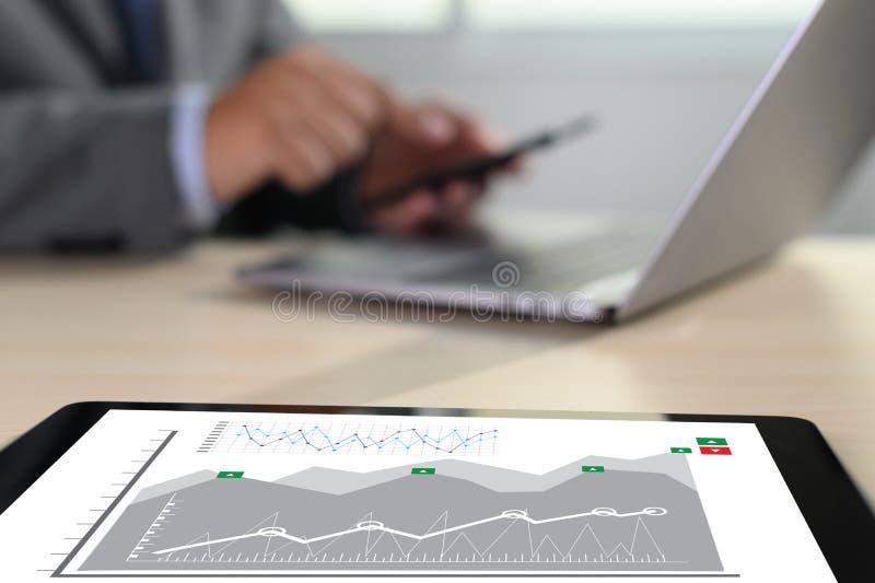 van de de Bedrijfs statistiekeninformatie van Analytics van het werk harde Gegevens Technologie royalty-vrije stock fotografie