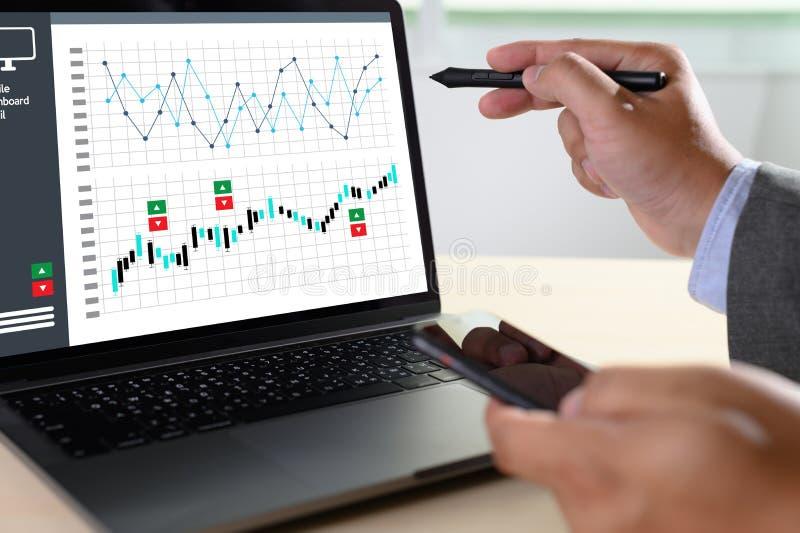 van de de Bedrijfs statistiekeninformatie van Analytics van het werk harde Gegevens Technologie stock foto