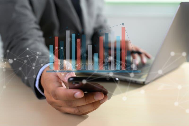 van de de Bedrijfs statistiekeninformatie van Analytics van het werk harde Gegevens Technologie royalty-vrije stock foto's