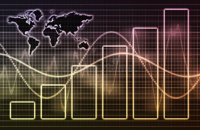 Van de bedrijfs technologie Collectieve Wereld stock illustratie