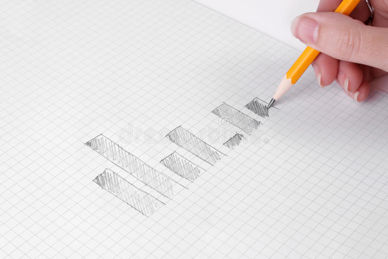 Van de bedrijfs tekening grafieken stock afbeelding