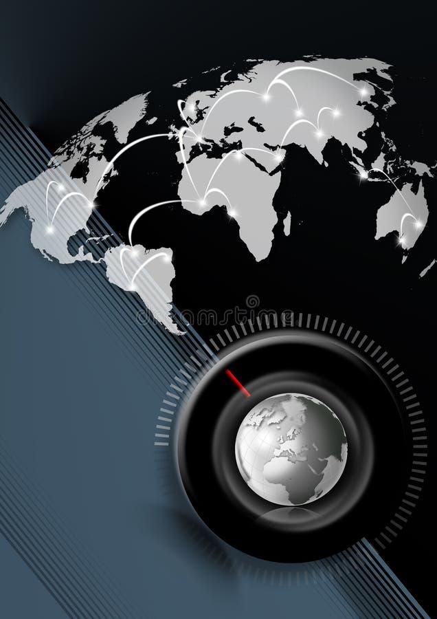 Van de bedrijfs tijd globale achtergrond royalty-vrije illustratie