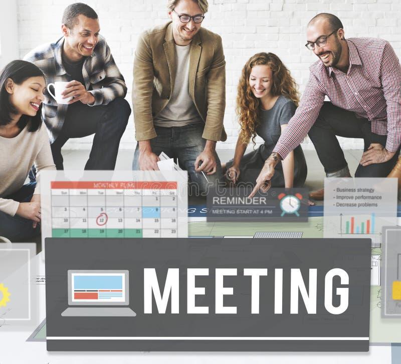 Van de bedrijfs vergaderingsconferentie Informatieconcept royalty-vrije stock fotografie