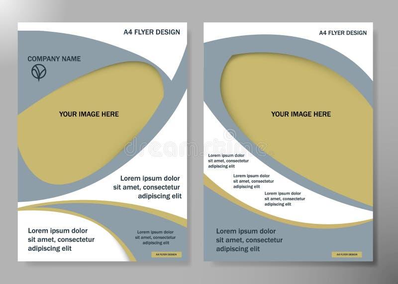 Van de bedrijfs vliegerdekking brochure vectorontwerp, Pamflet die abstracte achtergrond, Modern de lay-outmalplaatje adverteren  vector illustratie