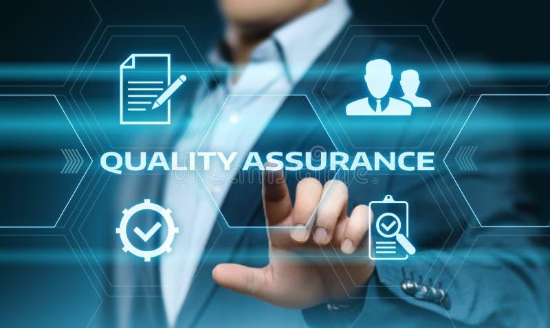 Van de Bedrijfs waarborg Standaardinternet van de kwaliteitsborgingdienst Technologieconcept royalty-vrije stock afbeelding