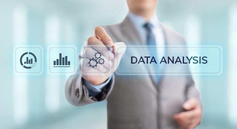 Van de bedrijfsinformatieanalytics van de gegevensanalyse de technologieconcept van Internet royalty-vrije stock fotografie