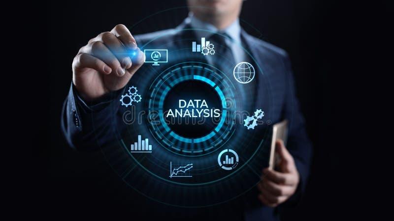 Van de bedrijfsinformatieanalytics van de gegevensanalyse de technologieconcept van Internet stock foto's