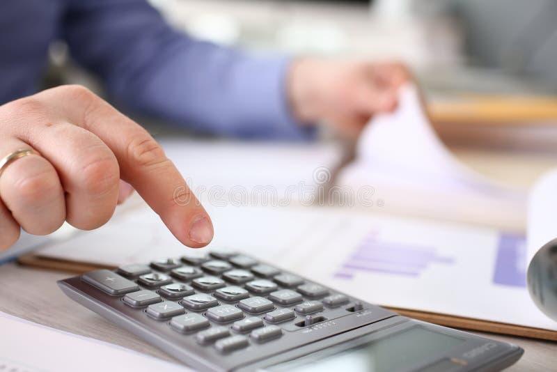 Van de de Belastingsberekening van de financiënbegroting de Uitgavenrapport royalty-vrije stock foto
