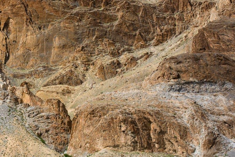 Van de de bergen rotsachtige oppervlakte van Himalayagebergte textrureachtergrond royalty-vrije stock foto's