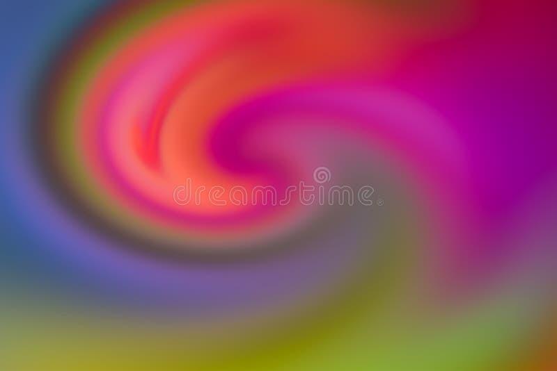 Van de de bewegingskunst van de achtergrondgradiënt lilac roze oranje groene kleurrijke golf het ontwerpbasis royalty-vrije illustratie