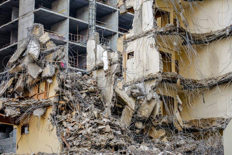 Van de de bouwvernieling/vernietiging scène royalty-vrije stock afbeeldingen